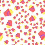 Seamless pattern of children`s pail with sand. An allover pattern of toys Stock Images