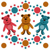 Seamless pattern with children's teddy bears Stock Images