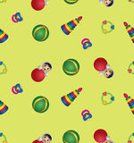Seamless pattern  with children's toys Royalty Free Stock Images