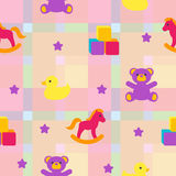 Seamless pattern with children's toys Royalty Free Stock Image