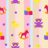 Seamless pattern with children's toys Stock Image