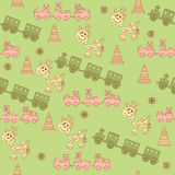 Seamless pattern of children's toys. Stock Images
