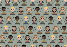 Seamless pattern children in school Stock Illustration