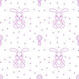 Seamless pattern children. Toys. Hare. Seamless pattern children. Minimalism. Vector illustration Royalty Free Stock Photography