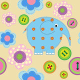 Seamless pattern with childrens crafts Stock Image