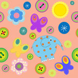 Seamless pattern of childrens crafts Stock Images