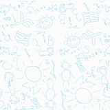 Seamless pattern with childrens drawings Stock Images