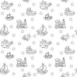 Seamless pattern with childrens toys Royalty Free Stock Photos
