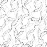 Seamless pattern with chili pepper Stock Photo