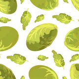 Seamless pattern Chinese cabbage in origami style. On white field Royalty Free Stock Images