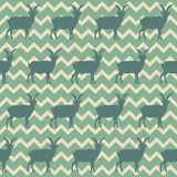 Seamless pattern with Chinese goats symbol 2015. Vector illustration Stock Photography