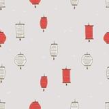 Seamless pattern, chinese lantern Royalty Free Stock Photography