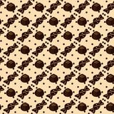 Seamless pattern with chocolate candies on beige royalty free illustration