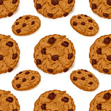 Seamless pattern with chocolate cookies Royalty Free Stock Photo