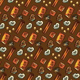 Seamless pattern with chocolate Stock Image