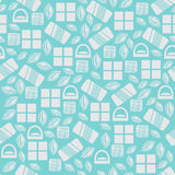 Seamless pattern with chocolate sweets  on blue background Stock Photography