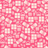 Seamless pattern with chocolate sweets  on pink background Royalty Free Stock Images
