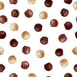 Seamless pattern with chocolates. On a white background Stock Photography