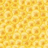 Seamless pattern chopped banana Royalty Free Stock Photos