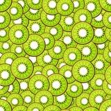 Seamless pattern chopped kiwi Stock Image