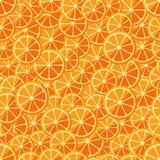 Seamless pattern chopped orange Stock Image