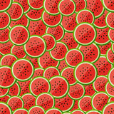 Seamless pattern chopped watermelon Stock Photography