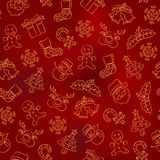 Seamless Pattern - Christmas Stock Photos