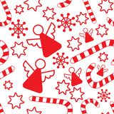 Seamless pattern with christmas angels Stock Photography