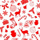 Seamless Pattern Christmas background Stock Photos