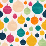 Seamless pattern with Christmas ball. Multicolored design for greeting cards, fabric, wrapping paper, invitation, stationery. Grunge seamless vector texture is Royalty Free Stock Photo