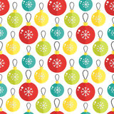 Seamless pattern with christmas ball. Vector illustration. Royalty Free Stock Image
