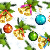 Seamless pattern with christmas balls Stock Images