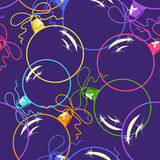 Seamless pattern of Christmas balls Royalty Free Stock Photo