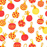 Seamless pattern with Christmas balls Royalty Free Stock Image