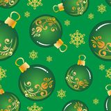 Christmas seamless-10. Seamless pattern with Christmas balls. New Year and Christmas illustration. Design element for fabric, wallpaper or gift wrap vector illustration