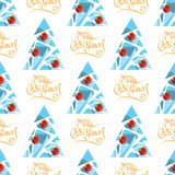 Christmas seamless-16. Seamless pattern with Christmas balls. New Year and Christmas illustration. Design element for fabric, wallpaper or gift wrap stock illustration