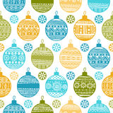 Seamless pattern with Christmas balls and snowflak. Es for textiles, interior design, for book design, website background Royalty Free Stock Image