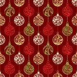 Seamless pattern of Christmas balls Stock Images