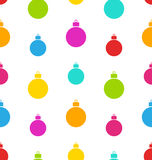 Seamless Pattern Christmas Balls. White Background - vector Royalty Free Stock Photography