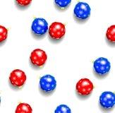 Seamless pattern of christmas balls on white background. Illustration Stock Photo