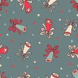 Seamless pattern with christmas bells. Royalty Free Stock Photos
