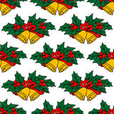 Seamless pattern with christmas Stock Images