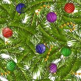 Seamless pattern christmas on black ground Royalty Free Stock Images
