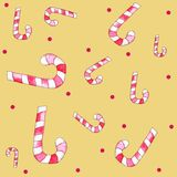 Seamless pattern with christmas candies Stock Image