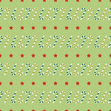 Seamless pattern with christmas candy canes and stars Stock Photo