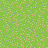 Seamless pattern with christmas  candy canes Royalty Free Stock Photography