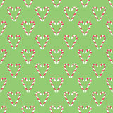 Seamless pattern  with christmas canes folded in the shape of he Royalty Free Stock Photography