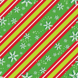 Seamless pattern in Christmas colors Stock Photos