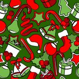 Seamless pattern with Christmas decoration Stock Photography