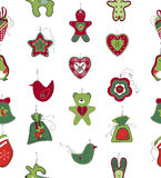 Seamless pattern with Christmas decoration on Royalty Free Stock Photos